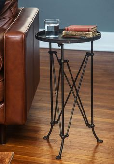 Cafe au Yay Table. You cant help but smile when you set your days first cup of coffee on this round side table! #bronze #modcloth