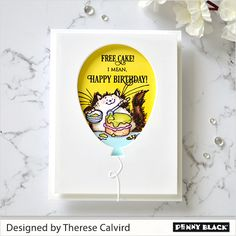 How to Make 5 Bright Fun Critter Balloon Cards with Penny Black + Video!