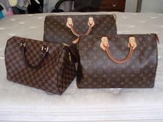Louis Vuitton Speedy 30, 35 and 40