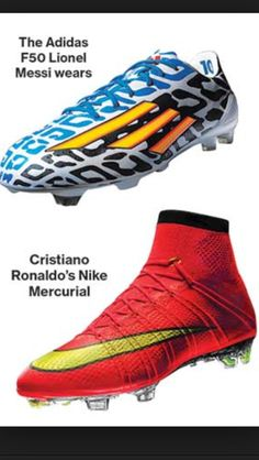 d3af3f5b95 Messi and Ronaldo s cleats Sonhos