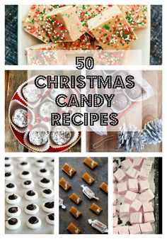50 Christmas Candy Recipes -candy is great any time of year and always makes a nice gift! Chocolate Chocolate and More!