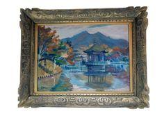 f. honii mid-century asian inspired impressionist painting |  on sale | via rumamge