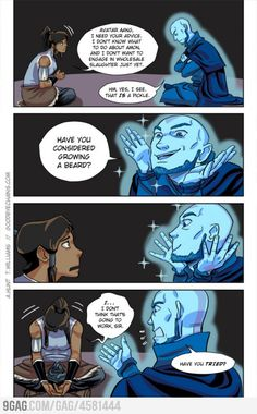 Avatar Aang, you want to take him seriously, but you know that that's physically impossible