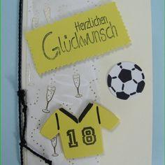 #Karte zum Geburtstag für einen #Fußballfan einfach selbst gebastelt #dakrela #diy #kartenbasteln #karten #handgemacht #handmade #fussball #cardmaking #zumgeburtstag #bvb #handmadecard