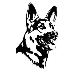 German Shepherd Alsation Dog Car Stickers - Car Decals Store