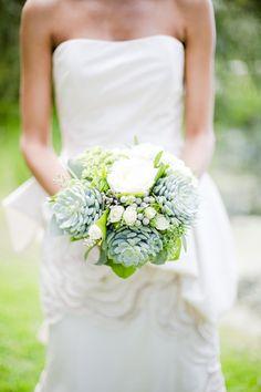 #bouquet  Photography: Eddie Judd - eddiejuddphotography.com/ Photography: Eddie Judd  Read More: http://www.stylemepretty.com/destination-weddings/2014/02/21/grayed-jade-sophisticated-garden-wedding-ideas/