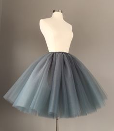 A personal favorite from my Etsy shop https://www.etsy.com/listing/223568741/charcoal-tulle-skirt-adult-bachelorette