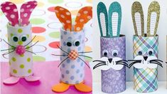 klopapier basteln mit kindern osterdeko selber machen osterhasen Easter Crafts, Fun Crafts, Crafts For Kids, Arts And Crafts, Diy Cardboard, Crafty Kids, Toilet Paper Roll, Toddler Activities, Little Ones