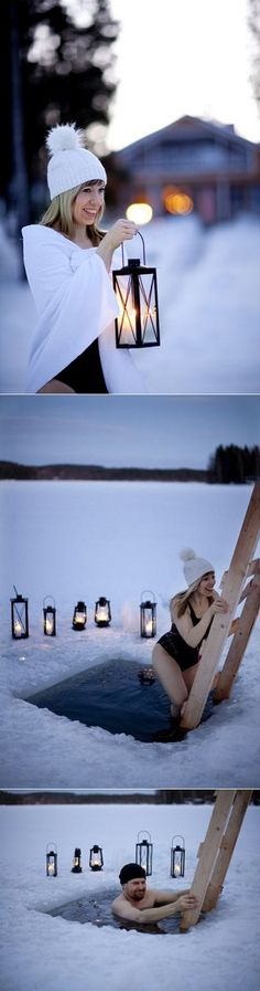 Loves, would yoube brave enough to try winter swimming in Finland ? I totally would,mostly because I wouldn't want to miss out on someth...