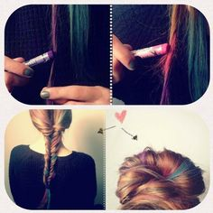 hair chalk? O.o can i jus use some pastels? (x <3