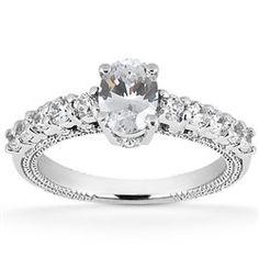 0.47ct Oval Cut Diamond Semi Mounting by GetDiamondsDirect on Etsy, $799.00