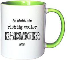 Mister Merchandise Kaffeetasse Becher So sieht ein richtig Cooler KFZ-Mechatroniker aus. , Farbe: Weiß-Grün - http://geschirrkaufen.online/mister-merchandise/weiss-gruen-mister-merchandise-kaffetasse-so-ein-2