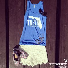 #Theta love at the University of Central Florida! #kao #sorority | Made by University Tees | www.universitytees.com