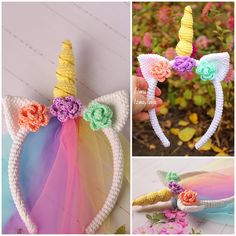Crochet Unicorn Blanket, Crochet Unicorn Pattern, Crochet Headband Pattern, Crochet Patterns, Crochet Ideas, Easter Crochet, Crochet Bunny, Crochet Flowers, Crochet Toys
