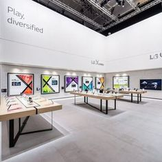 LG Messestand IFA 2016 Berlin rgb Exhibition Stall, Exhibition Stand Design, Exhibition Display, Store Interiors, Office Interiors, Fritz Cola, Environmental Design, Design Museum, Model Homes