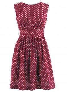 polka dot dress front
