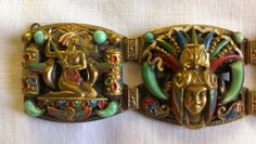 Art Deco Max Neiger Egyptian Revival Link Bracelet