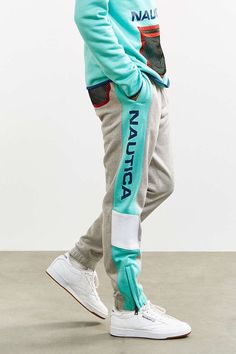 Designer Clothes, Shoes & Bags for Women Mens Jogging Suits, Track Pants Mens, Mens Jogger Pants, Sport Pants, Sport Style, Sport Fashion, Mens Fashion, Streetwear, Mens Clothing Styles