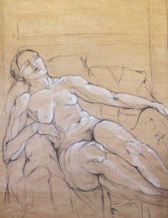 S/T (Estudio, Modelo Vivo) - http://redarte.com.ar/2014/02/st-estudio-modelo-vivo-2/ #RedArte #Art #Arte #Dibujo