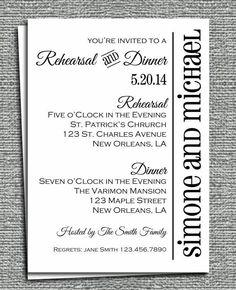 Rehearsal Dinner Invitation Printable