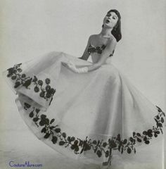 Mme. Gres, 1956.What an amazing amount on fabric they have used back then