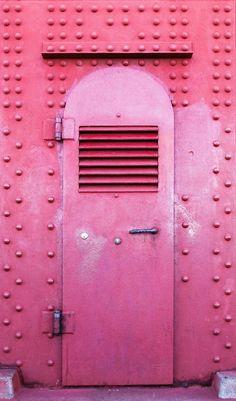 Pink Metal Door, Golden Gate Bridge, San Francisco, California by Randy Hahn Cool Doors, Unique Doors, Entrance Doors, Doorway, Pink Love, Pretty In Pink, Porches, The Doors Of Perception, When One Door Closes