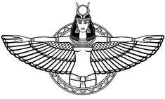 Animation Portrait Of The Ancient Egyptian Winged Goddess. Stock Vector – Illustration of cleopatra, design: 89365512 Animation Portrait Of The Ancient Egyptian Winged Goddess. Stock Vector – Illustration of cleopatra, design: Tattoo Sketches, Tattoo Drawings, Nefertiti Tattoo, Cleopatra Tattoo, Ancient Tattoo, Tattoo Bauch, Isis Goddess, Egyptian Goddess Tattoo, Folk Art Flowers