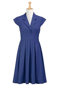 Retro Poplin Shirtdress Customized with No Sleeves (or leave sleeves as they are) and Above Knee Hem