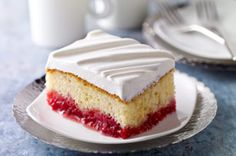 10 minute prep time raspberry cake recipe.  For the next office party!