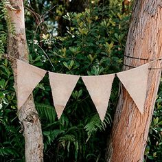 Plain Burlap Flag Banner Natural with Rope-- I'd just make this!! So easy, way cheaper