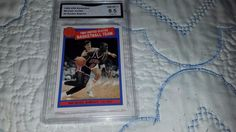 1984 MICHAEL JORDAN  MISSING LINK ROOKIE ORIG.BASKETBALL CARD#2 GRADE NM-MT 8.5