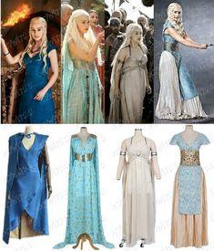 Cosplay Costume New Game of Thrones Daenerys Targaryen Fancy Dress Women Halloween Cos Costume - Got Costumes, Period Costumes, Cosplay Costumes, Kalessi Costume, Scary Costumes, Fancy Costumes, Creative Costumes, Disney Costumes, Halloween Kostüm