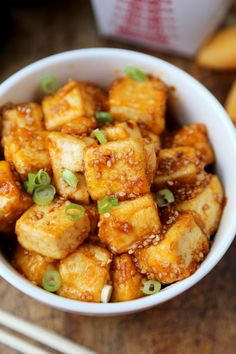 honey sriracha tofu
