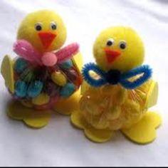 Easter Chicks gift bags.