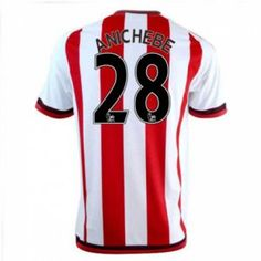 Sunderland AFC Home 16-17 Season Anichebe #28 Red Soccer Jersey [I323]