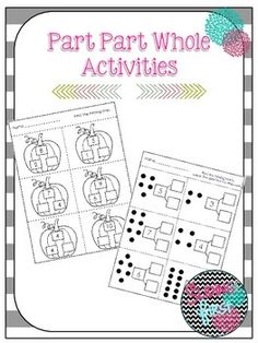 Included:6 part part whole worksheet activities*most of the activities have a fall/pumpkin theme, first grade, math, part part whole, addition, subtraction, decomposing numbers