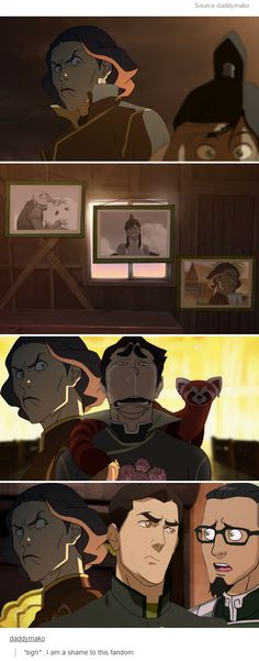 the faces of the legend of korra