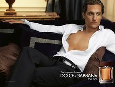 Matthew McConaughey Dolce and Gabbana Fragrance for men