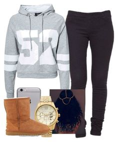 """""""Untitled #166"""" by khanyajane on Polyvore featuring VILA, Sisters Point, Michael Kors and UGG Australia"""