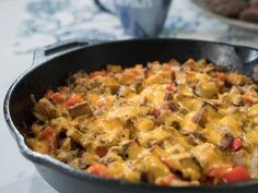 Get Cheesy Beef and Potato Hash Recipe from Food Network