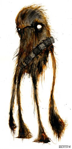Wednesday Wolf's Star Wars Art Will Creep You Out