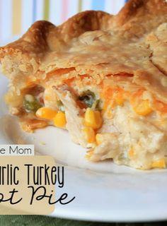 Cheddar Garlic Turkey Pot Pie - easy and SOOO good!!