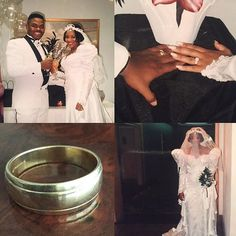 Check this out from @holtonbuggs It was 23 years ago I went to the nearest pawn shop with $100 to buy my wedding ring.  I got a deal for $75 and took you to the Dollar movies with the rest.  I financed your $800 ring from Zales.  We invited 30 people to the Holiday Inn Hotel for our wedding and reception with no wedding party. I remember Brian McNight playing on a Sony Boom Box as you walked down the aisle. The most Beautiful Bride I Have ever seen. We paid the balance of our wedding expense…