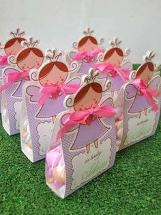 Little Angel Bags. Baptism Favors, Baby Shower Favors, Party Invitations, Party Favors, Favours, Gift Wraping, Festa Party, Ideas Para Fiestas, Candy Gifts