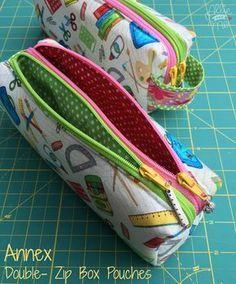 Doppel Reißverschluss Tasche