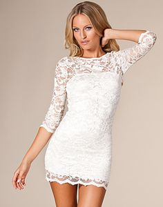 John Zack/ Slash Neck Lace Dress