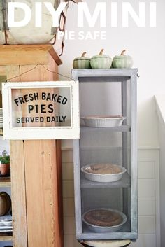 DIY mini pie safe -