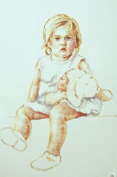 niña retrato 70 x 60-M. Isabel Barros Alcalde