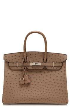 35Cm Gris Tourterelle Ostrich Hermes Birkin by Heritage Auctions Special Collections for Preorder on Moda Operandi