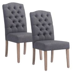 Shop for Lucian Set of 2 Linen Button Tufted Side Chairs. Get free shipping at Overstock.com - Your Online Furniture Outlet Store! Get 5% in rewards with Club O!